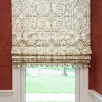 Roman shade with trim