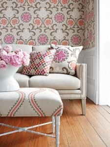 Thibaut sofa and ottoman