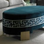 Ottoman with Samuel and Son Banding
