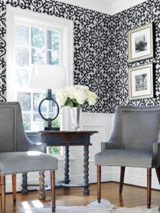 black and gray fabrics