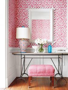 Pretty pink fabric